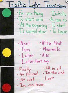transitioning sentences