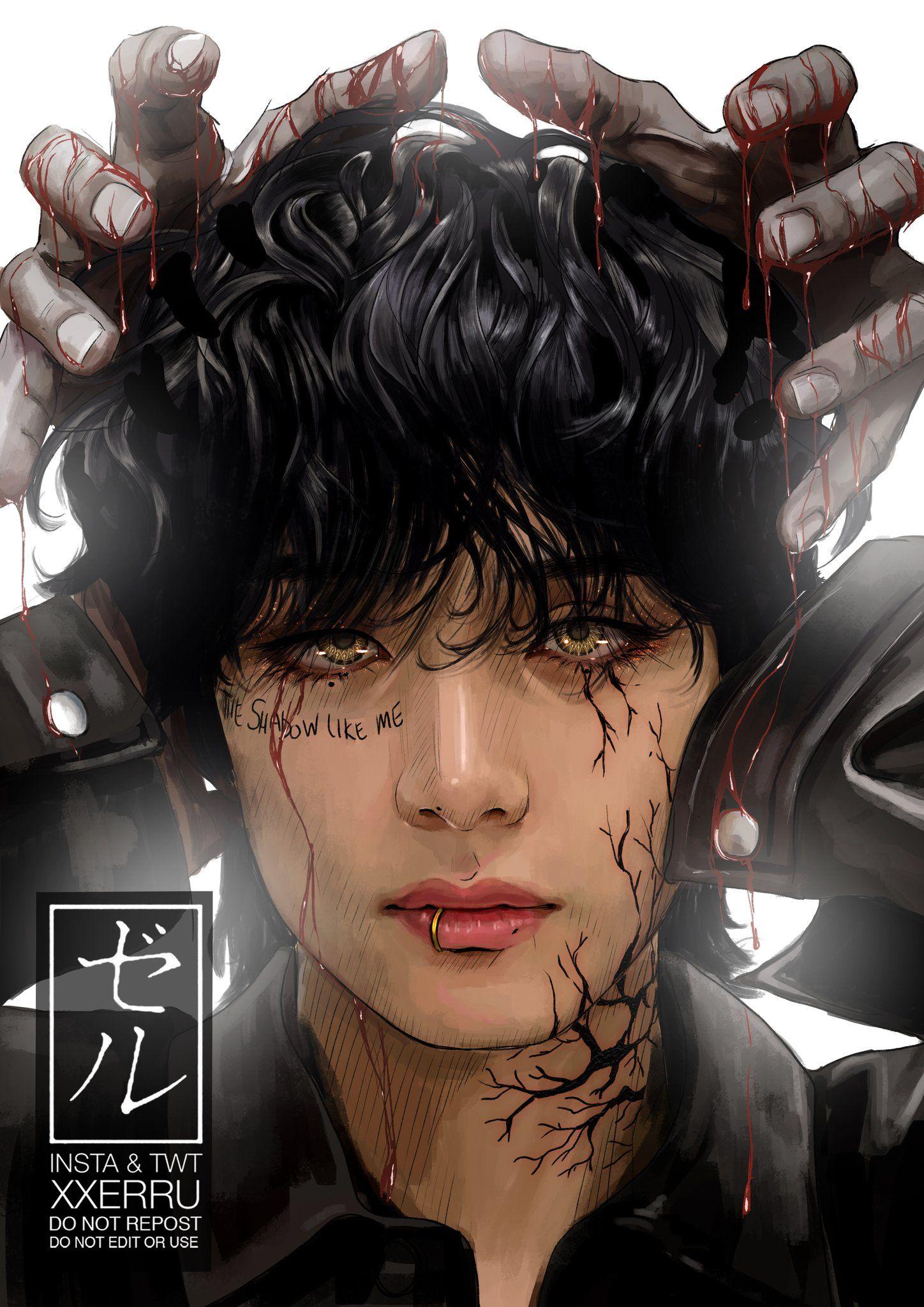 Xxerru 해즐🇭🇲 on Twitter in 2020 Bts drawings, Taehyung