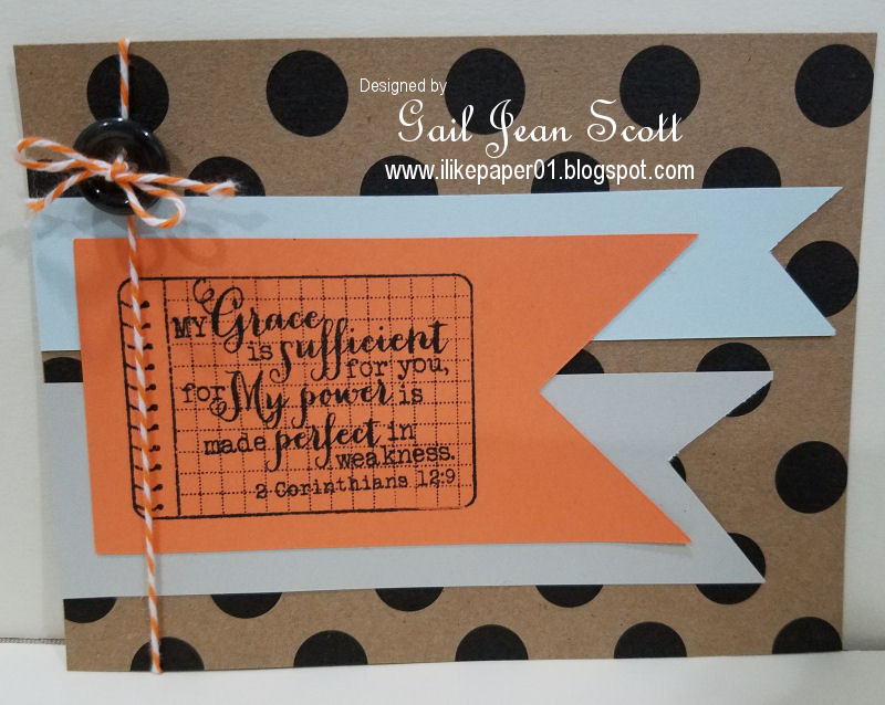 Handmade card by Gail Scott using the 2 Corinthians 12:9 and Notebook plain janes from Verve. #vervestamps #faithstamping