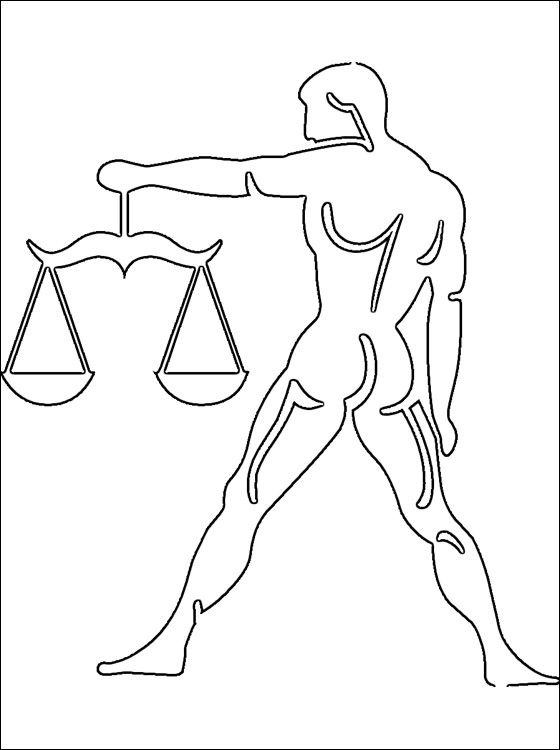libra coloring page coloring pages