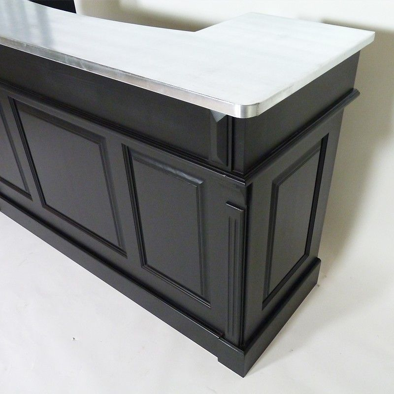 Meuble bar le zinc grand modèle noir Accessoires  Mobilier