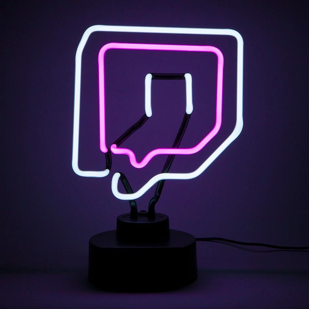 Twitch Logo Neon Light USB Version Hand Bent Glass Neon
