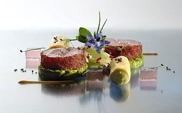 """All around the world, the Grands Chefs Relais & Châteaux engage in the """"haute couture"""" of fine dining, placing their creativity and their expertise in the service of your taste buds. For a light lunch, festive meal or a tasting menu showcasing the treaures of the region, you will discover a new way of travelling and experiencing local cuisine. Each restaurant reflects the unique personality of the chef who creatively communicates through his cuisine in innovations and culinary delights."""