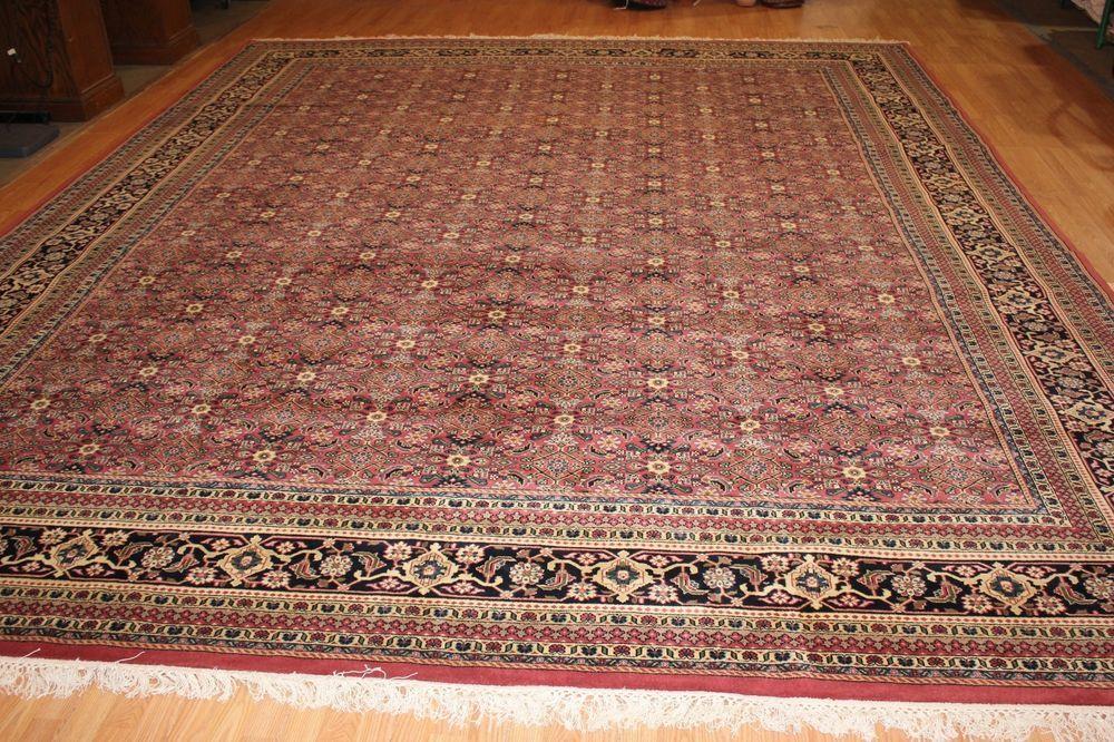 12 X 15 Herati Sarouk Handmade Bidjar Area Rug Wool Carpet Kazak 65891 Cr Wool Area Rugs Rugs Area Rugs