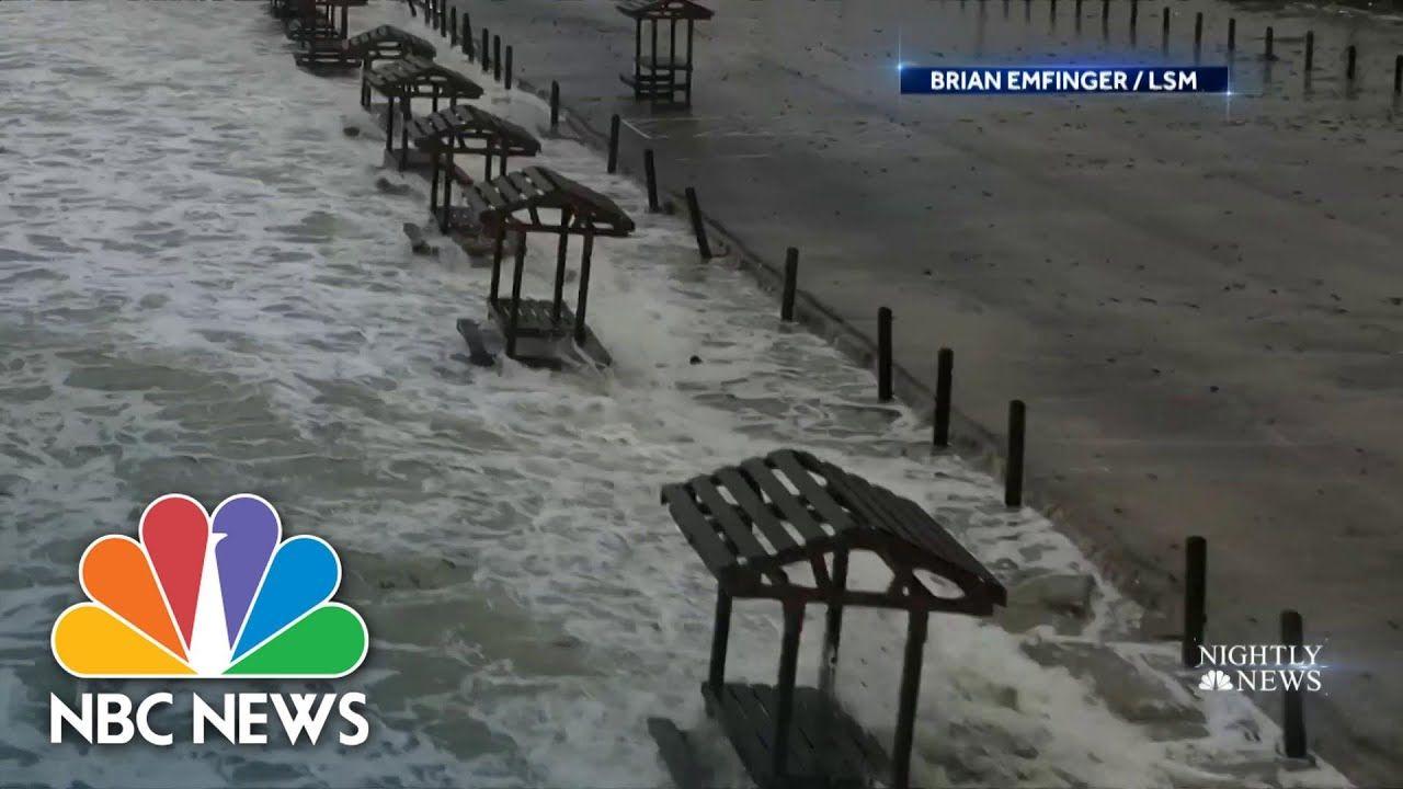 Hurricane Hanna Hits Texas Coast With Storm Surge And Heavy Rain Nbc N In 2020 Nbc Nightly News Nightly News Storm Surge
