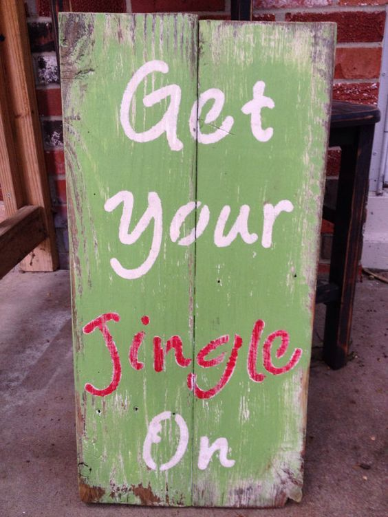Get Your Jingle On pallet sign | Christmas signs wood ...