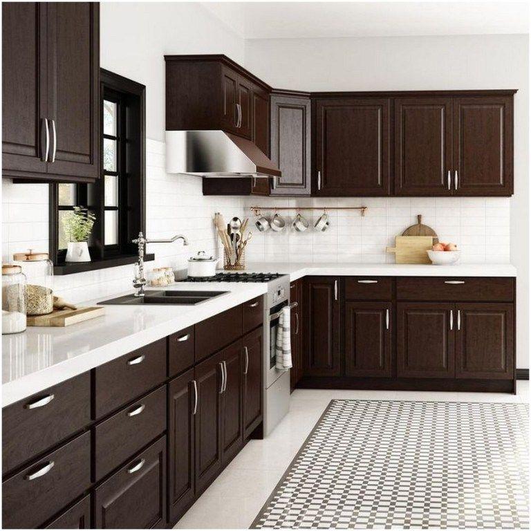73 Lovely Kitchen Backsplash With Dark Cabinets Decor Ideas 1 Jilumpet Com Kitchen Design Color Kitchen Room Design Kitchen Cabinet Design