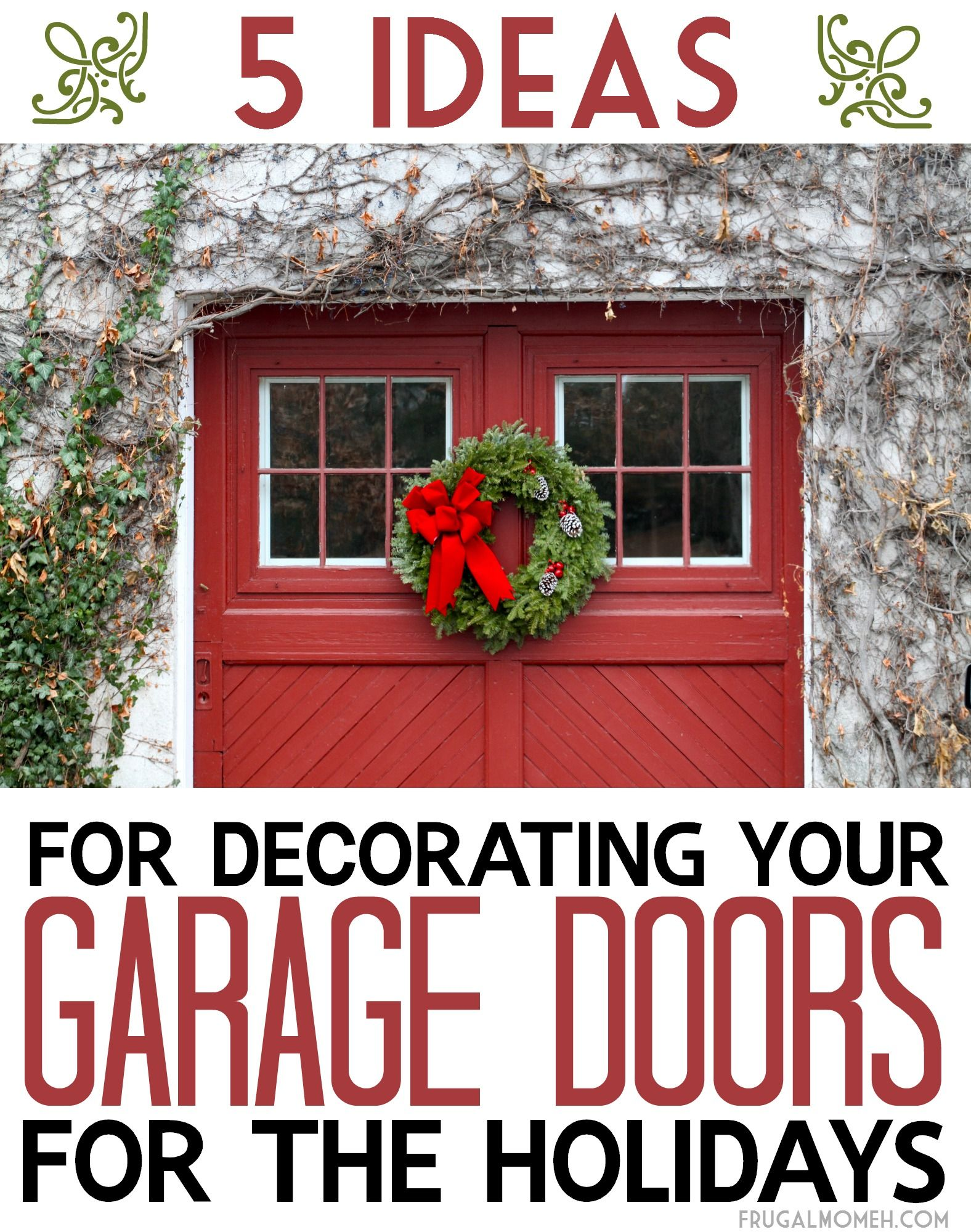 Outdoor garage decorations   Ideas for Decorating your Garage Doors for the Holidays