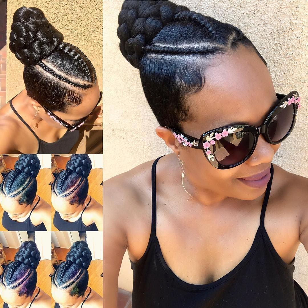 Tapered sides and braids hair pinterest