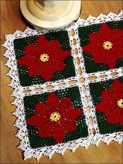 diy h keln weihnachsstern deckchen advent weihnachten poinsettia doily i free pattern download. Black Bedroom Furniture Sets. Home Design Ideas