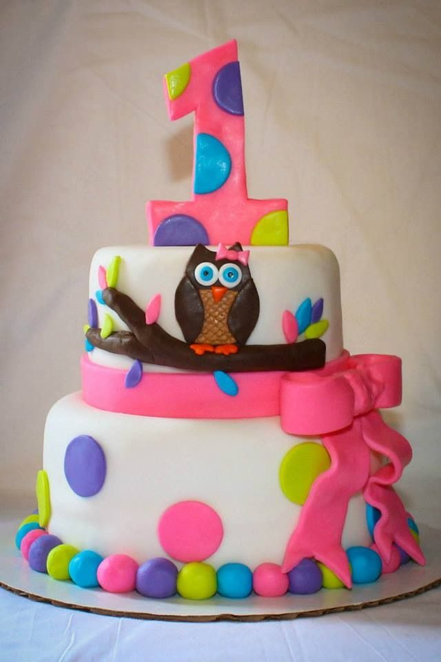 Owl first birthday cake Simply Southern Cakes Pinterest