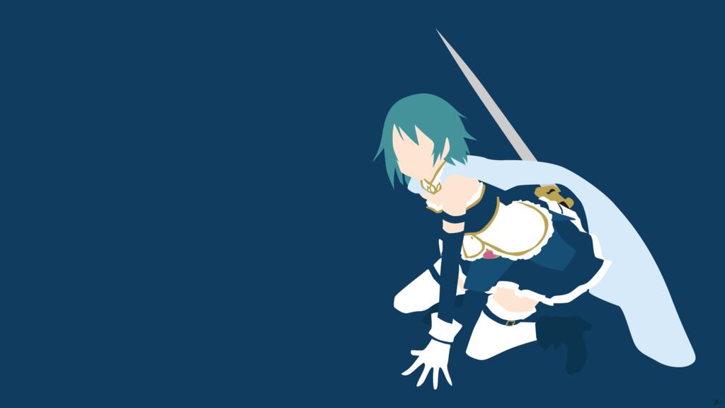 Sayaka Miki (Puella Magi Madoka Magica) Minimalismo por greenmapple17