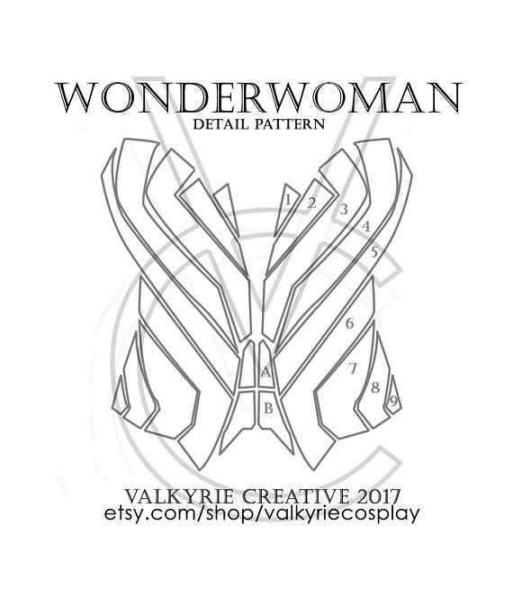 This Is A Printable PDF Template With Detailing Patterns For The New Wonderwomans Corset