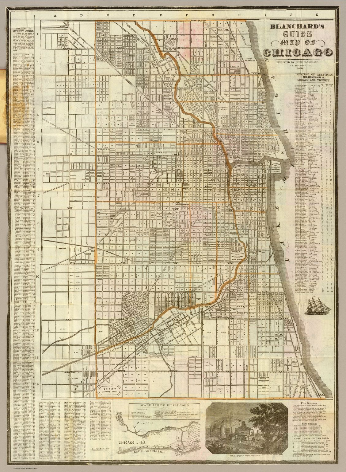 Zoomable Map Of Chicago  Cover Blanchards Guide Map Of - Chicago map of