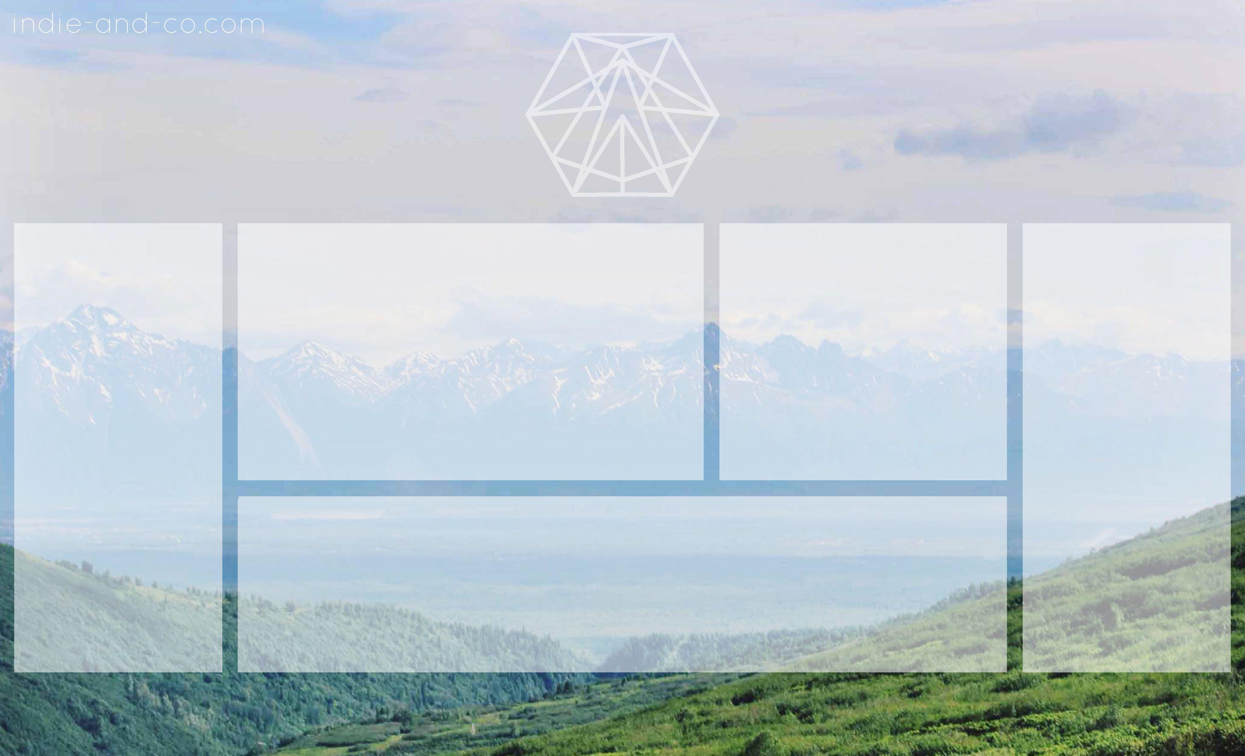 blank mountain view desktop organizer wallpaper background