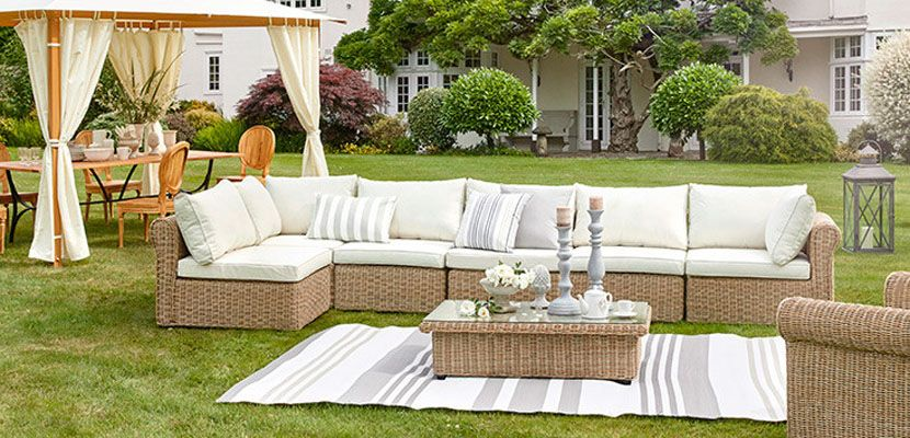 muebles de mimbre para la terraza o jardn