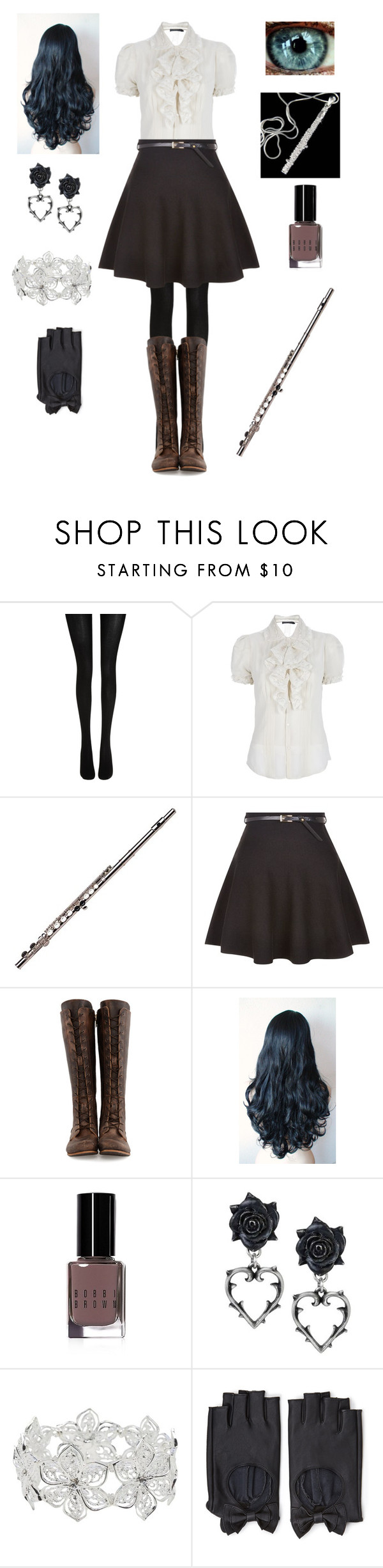 """""""Random Creepypasta Character #32"""" by ender1027 ❤ liked on Polyvore featuring Wolford, Ralph Lauren, New Look, John Fluevog, Bobbi Brown Cosmetics, M&Co and Forever 21"""
