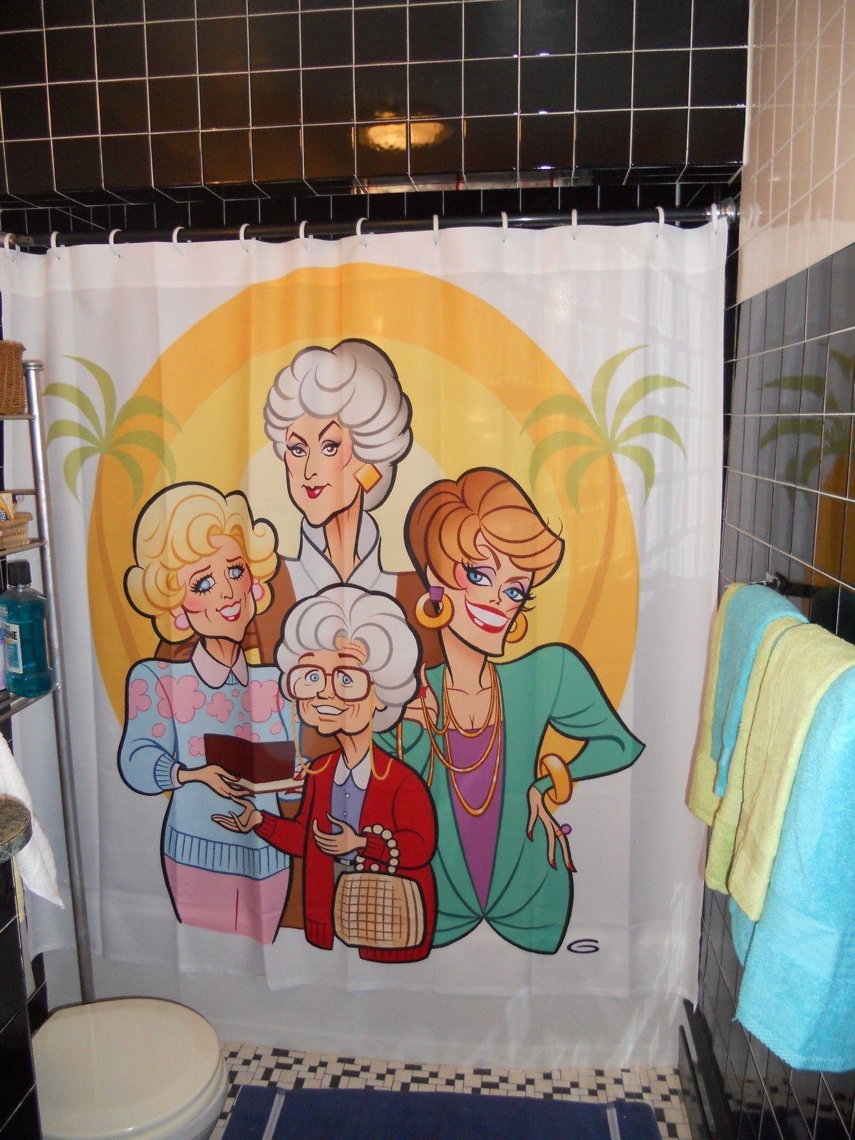 Golden Girls Shower Curtain Ebay Girls Shower Curtain Golden