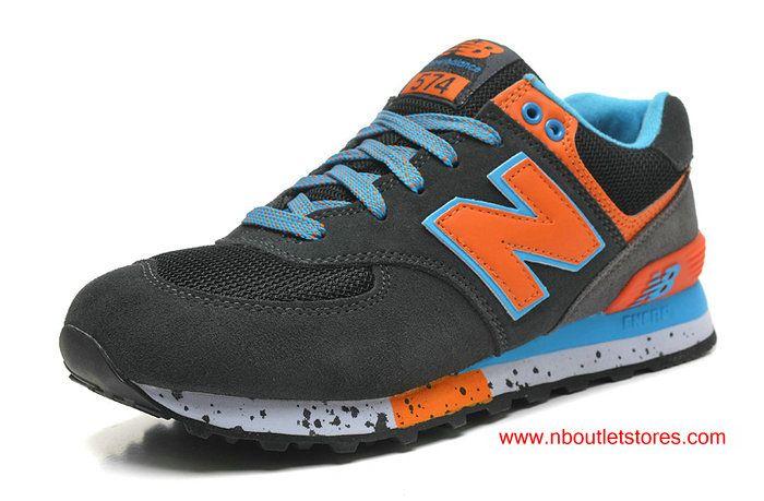 New Balance ML574DGB 90s Outdoor Darkgrey Orange Blue For Women