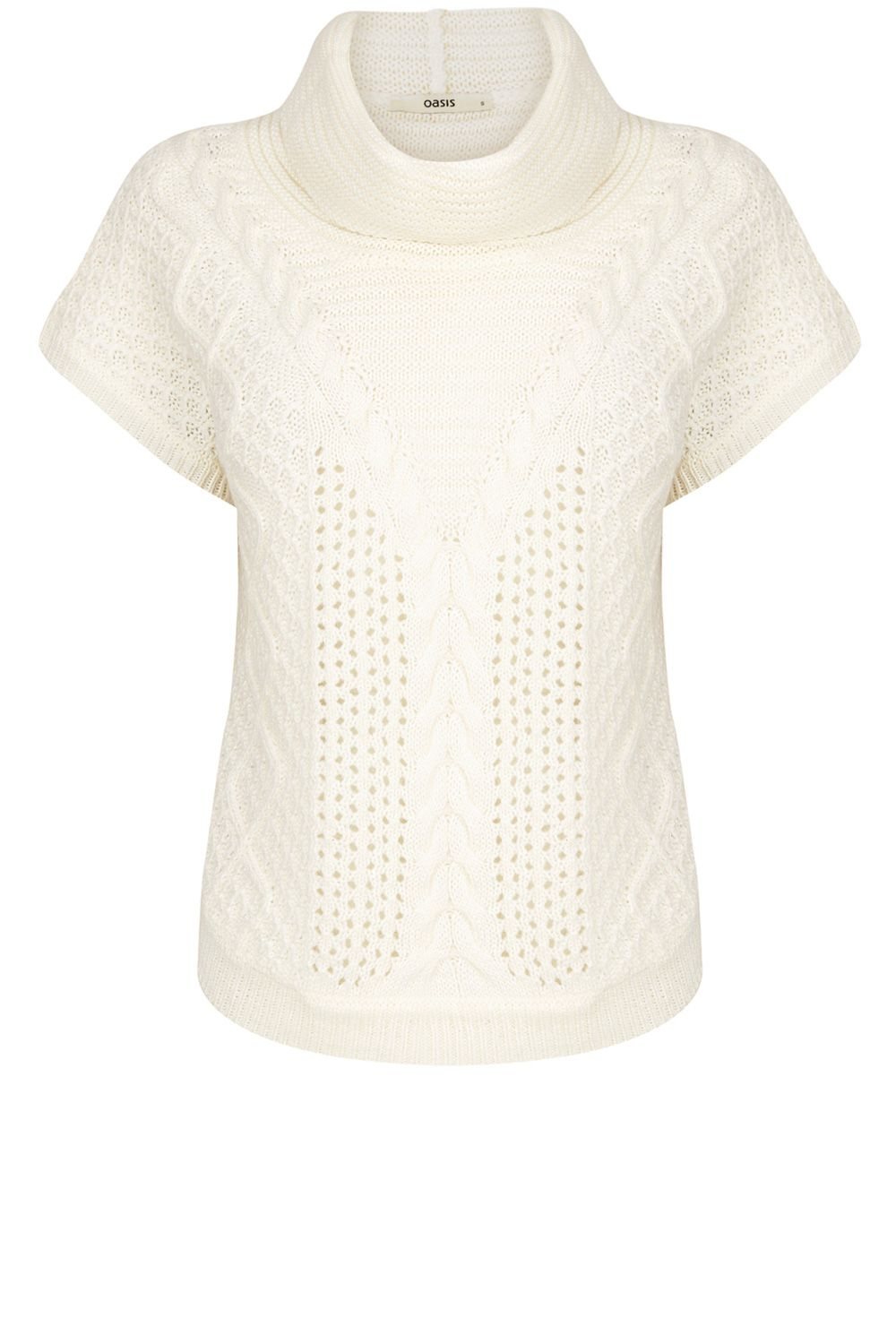 Oasis Cable Trapeze Cowl Neck Top