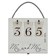 ein perfektes geschenk zur verlobung ewiger countdown hochzeitskalender hochzeitsgeschenke. Black Bedroom Furniture Sets. Home Design Ideas