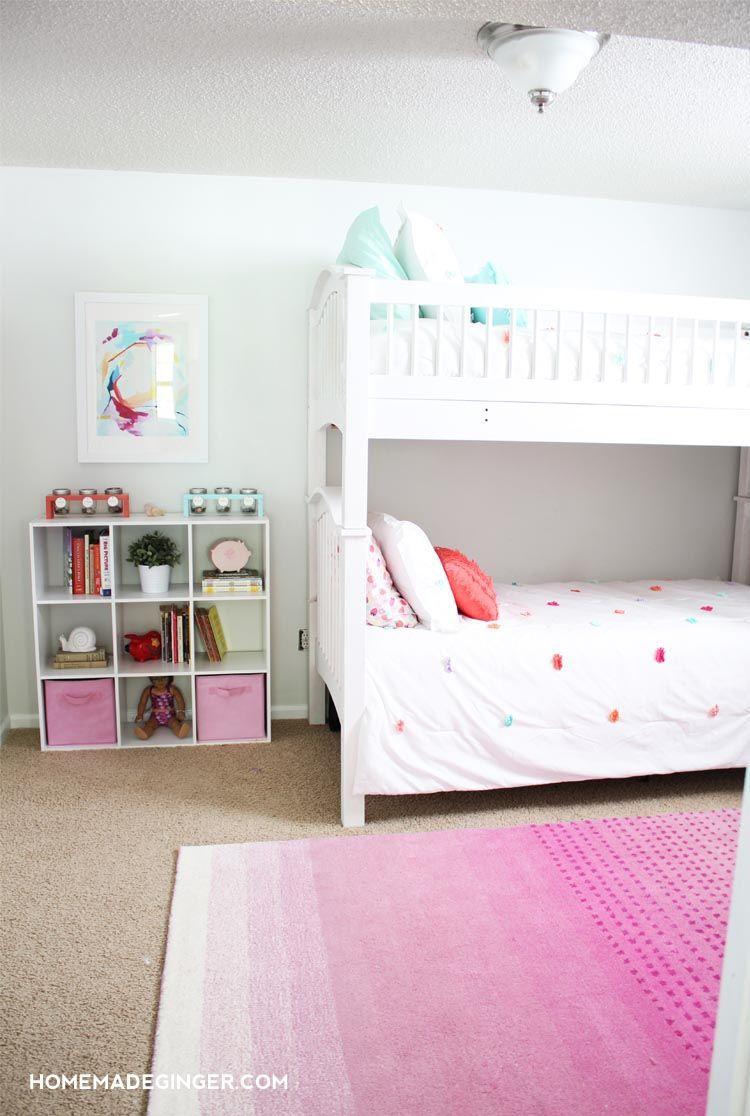 Girls Bedroom Reveal Diy Room Decor Bloggers Best Diy Ideas