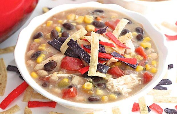 Homemade Chick-fil-A Chicken Tortilla Soup #chickentortillasoup