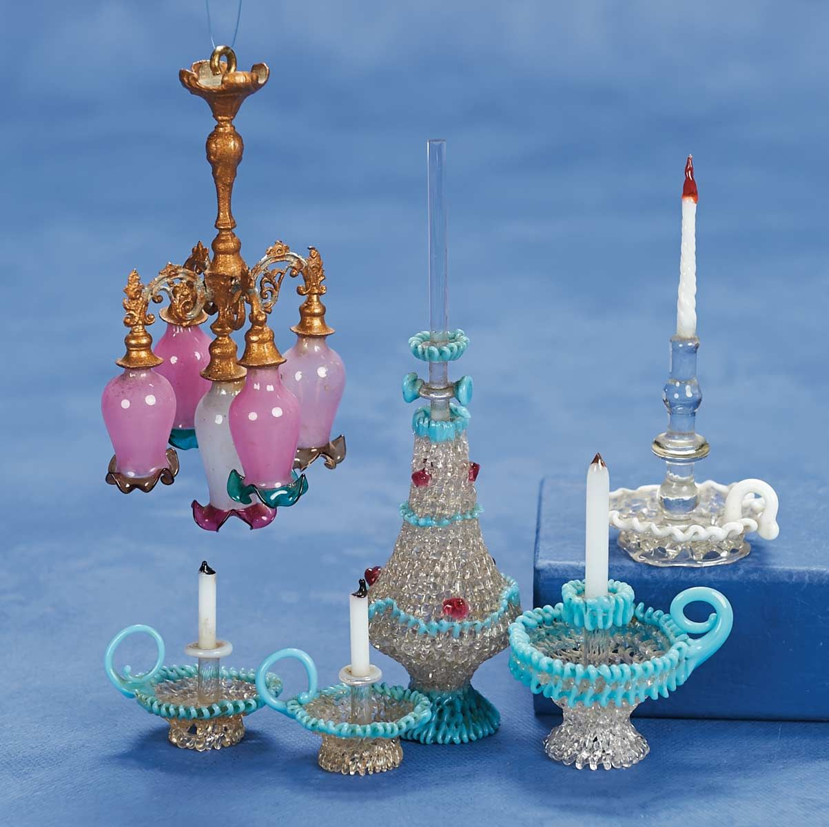 lighting for dollhouses. Stars - 2 Volume Set: 168 19th Century Miniature Dollhouse Glassware And Chandelier Lighting For Dollhouses C