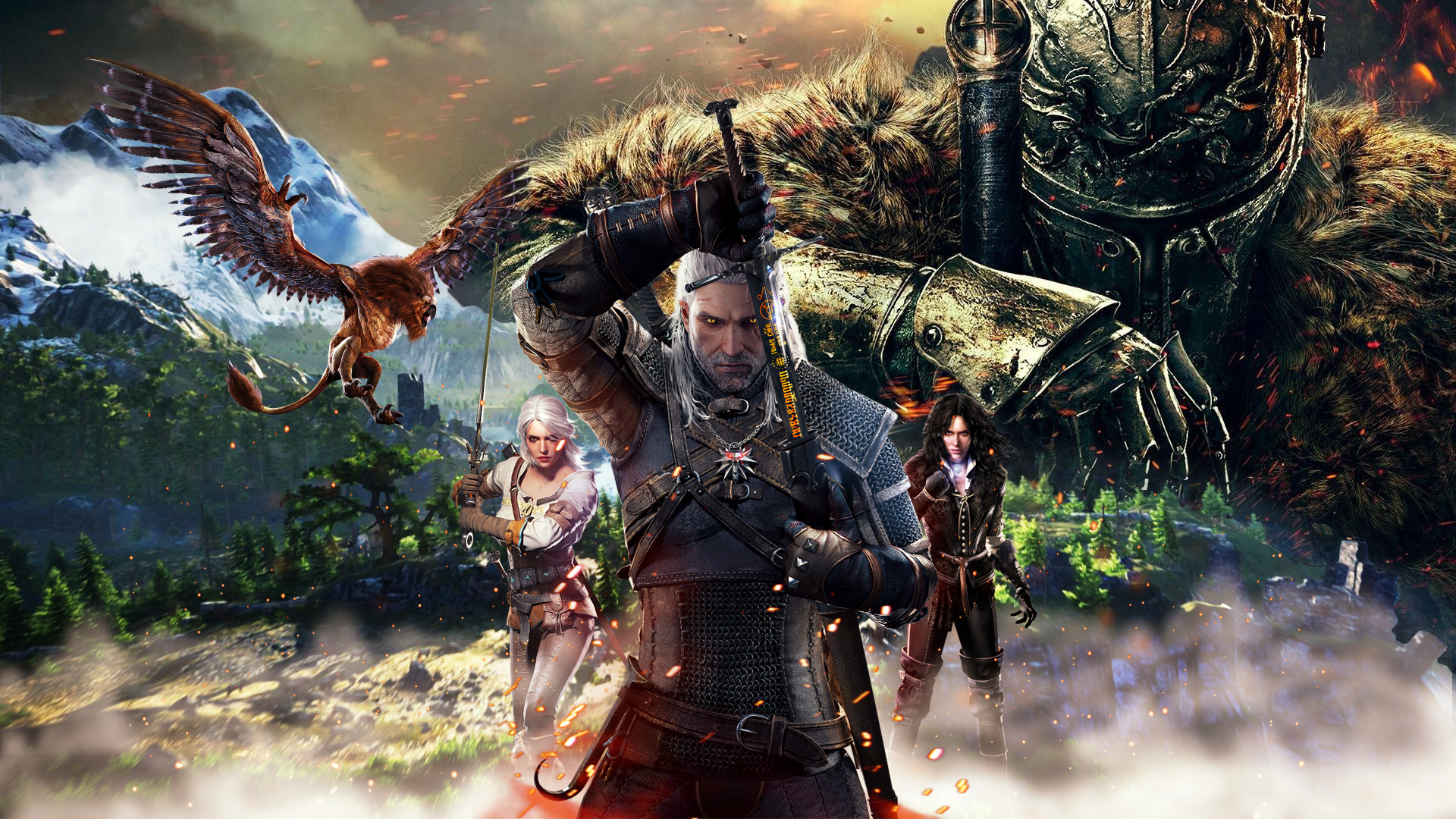 For the select few who love The Witcher 3 and Darksouls 3