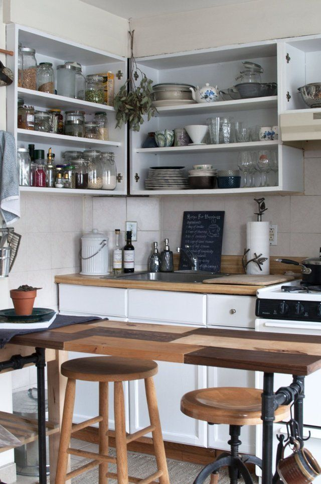 How To Make An Ugly Al Kitchen Look Better Fast Apartment Therapy