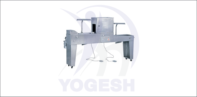 The tablet inspection machine is a compact model with reversible function. It inspects the tablets on the both side of the tablets. It consists of the foot switch on both of the side.