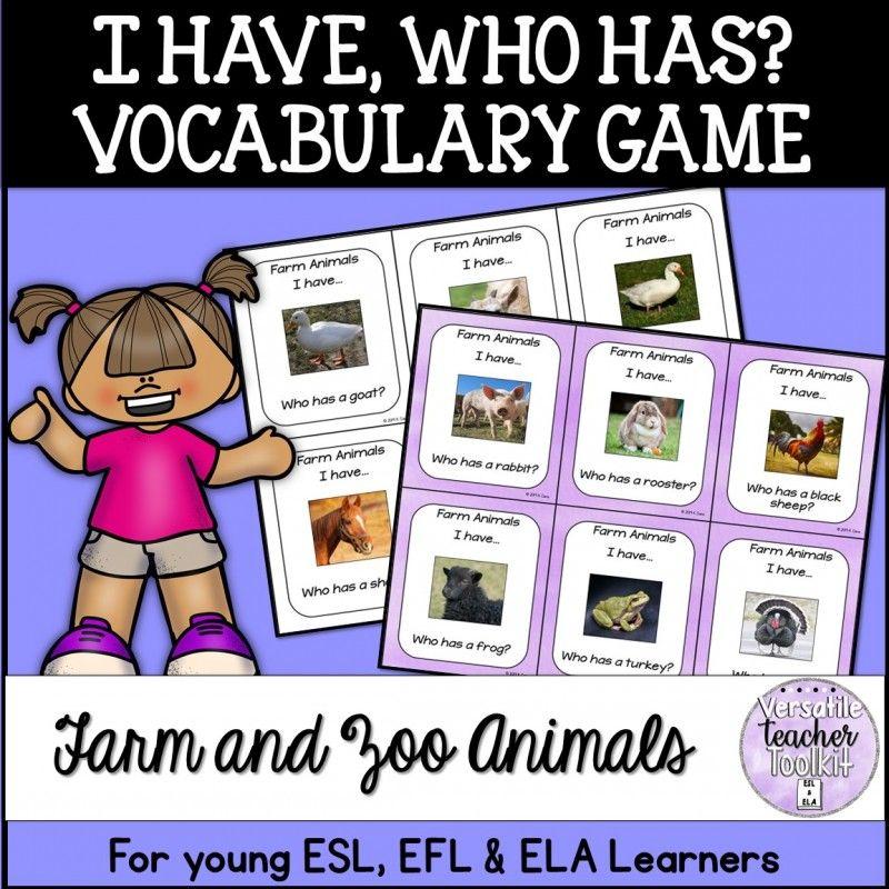 I Have... Who Has...? Vocabulary Games Bundle Vocabulary