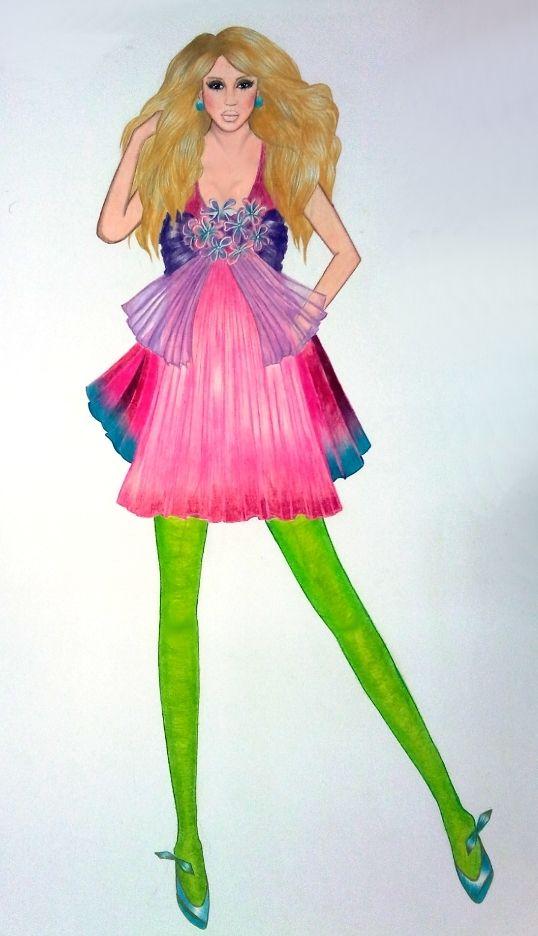 40 Glamorous fashion design illustrations & Drawings | Bosquejo de ...
