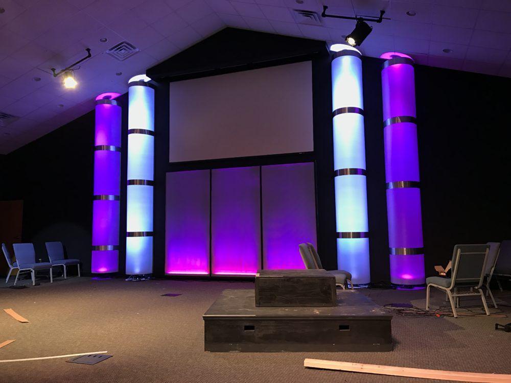 We Got Columns From Open Door Church In Edenton Nc Church Stage Design Ideas Church Stage Design Church Stage Stage Design