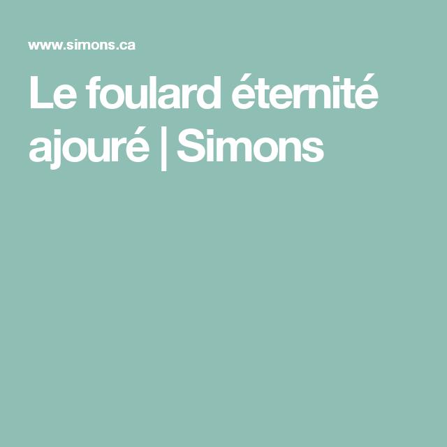 Le foulard éternité ajouré | Simons
