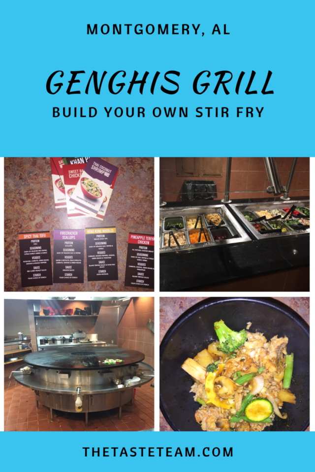 Genghis Grill Build Your Own Stir Fry Montgomery Al The Taste