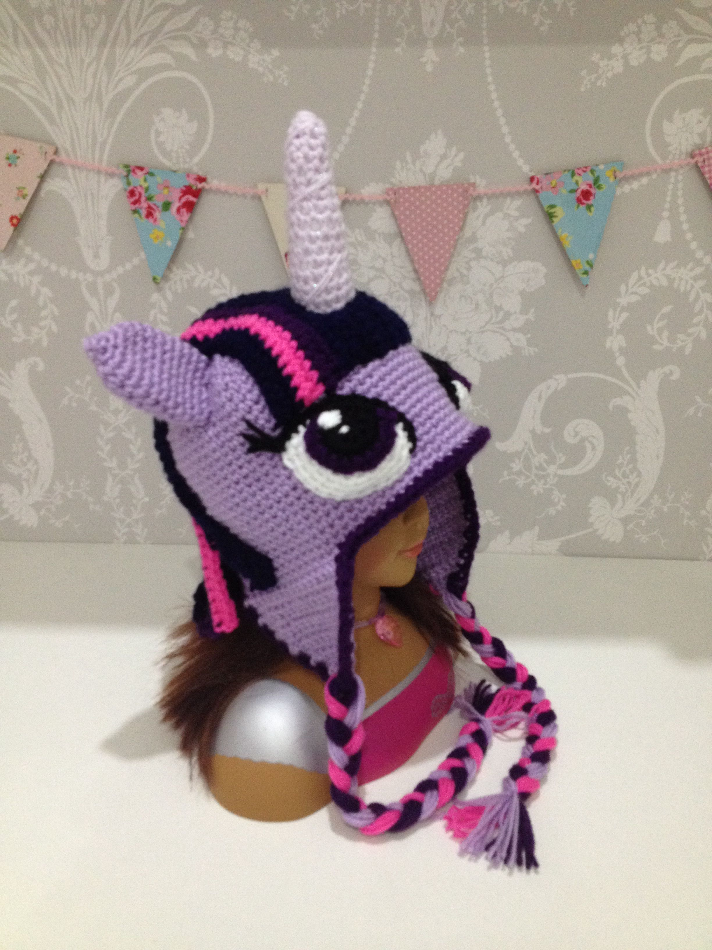 Fabulous hand crocheted twilight sparkle my little pony hat. Would ...