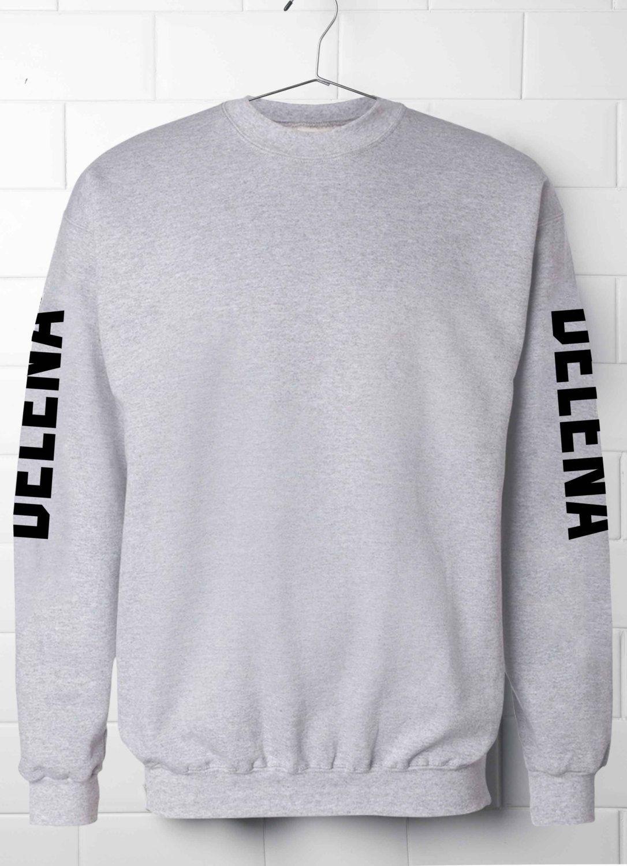 Delena Sweatshirt,Sleeve print Delena Sweatshirt,Vampire Diarie's Sweatshirt,Girl  best gift, TVD T-Shirt,Elena Gilbert, Damon Salvatore