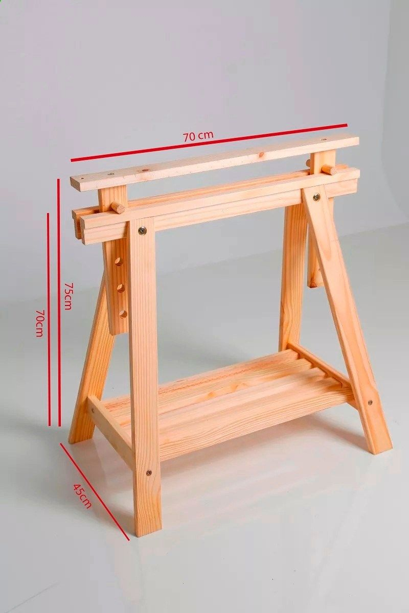 cavalete madeira pra mesa escritorio com regulagem de altura