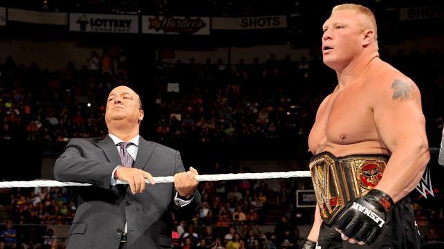 Brock Lesnar WWE World Heavyweight Championship Match Photos