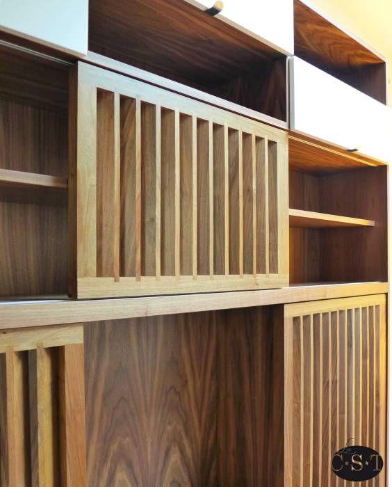 Photos de salon de style de style moderne : meuble tv et ...