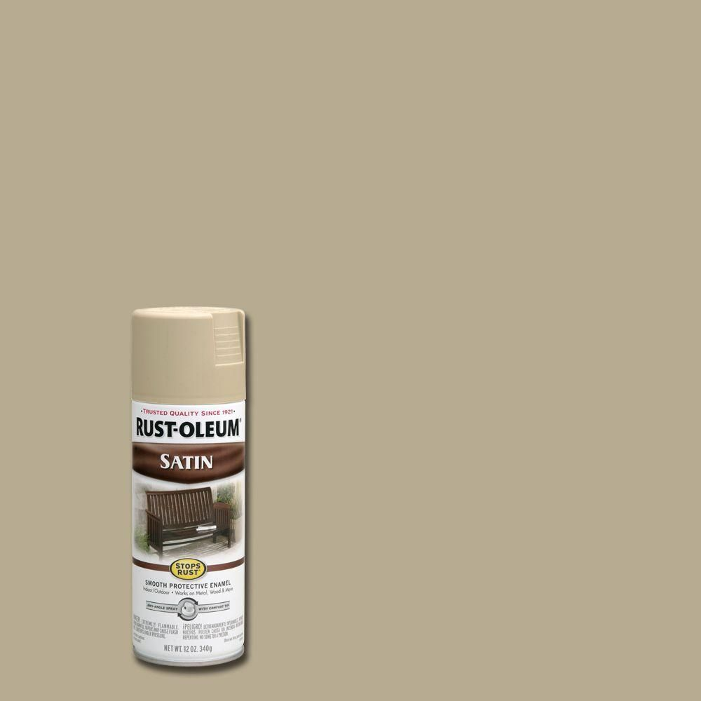 Rust-Oleum Stops Rust 12 oz. Protective Enamel Satin Putty (Pink ...