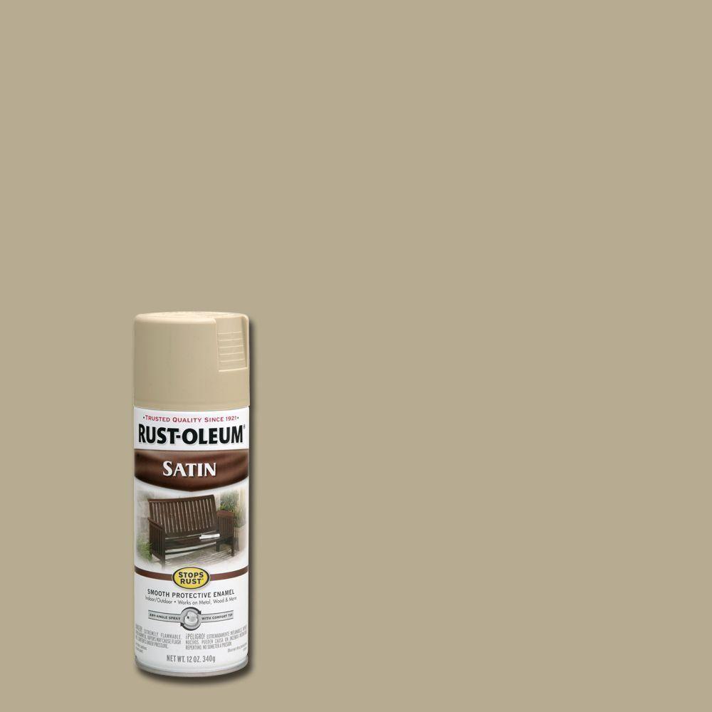 Rust-Oleum Stops Rust 12 oz. Protective Enamel Satin Putty (Pink ...