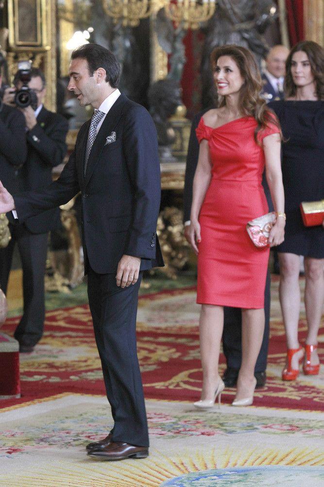 Las personalidades asistentes a la recepción en el Palacio Real por ...