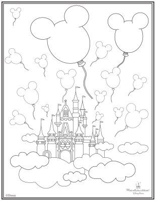 Castle Coloring Page Camp Mickey