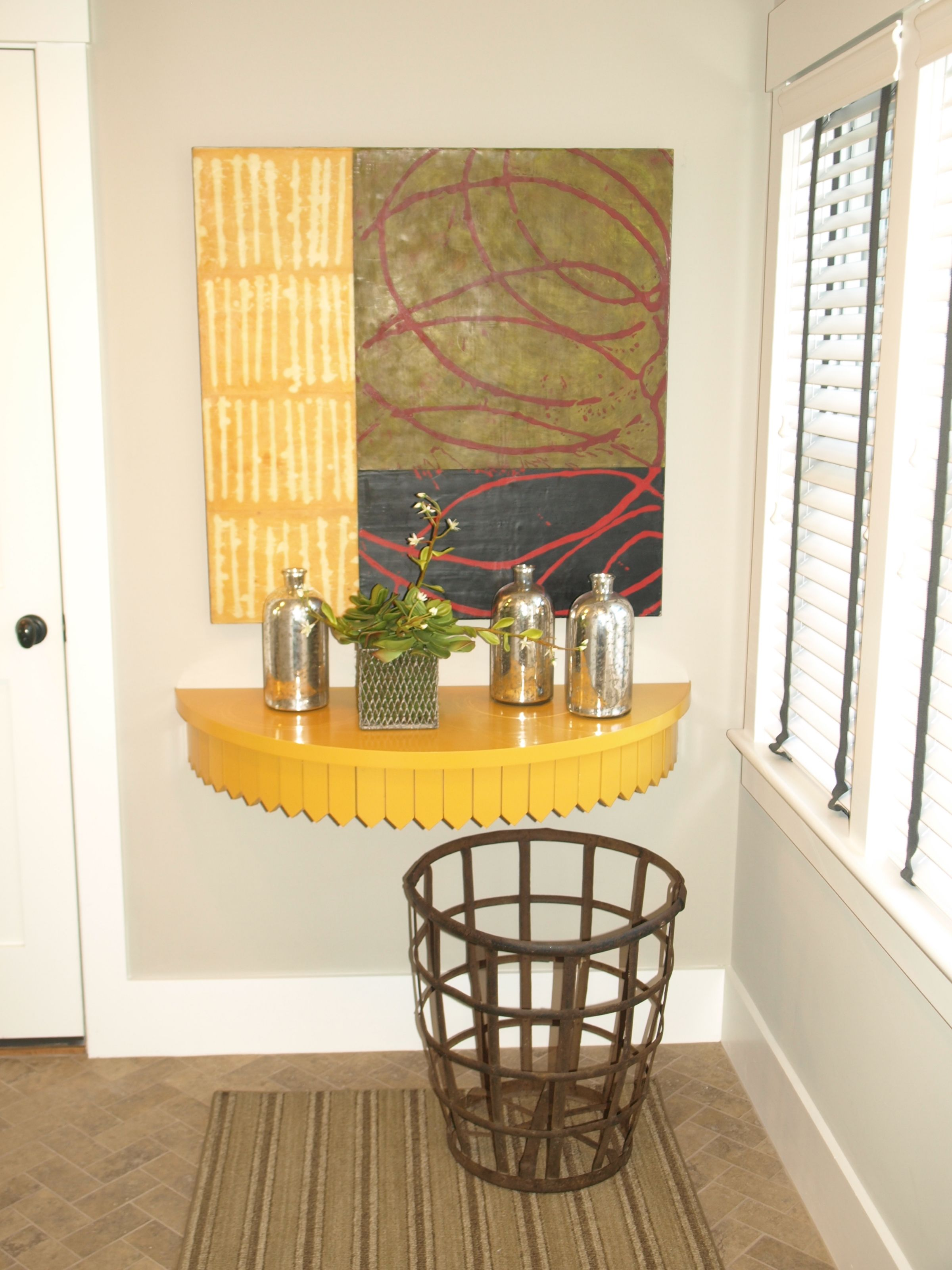 Wall Mounted DemiLune Table