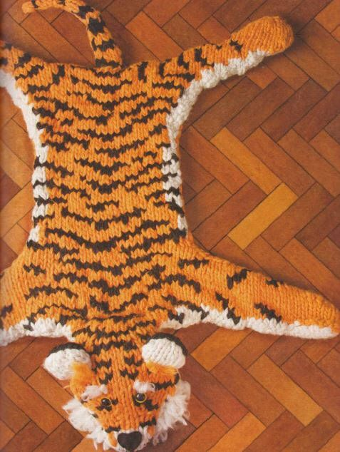 Excited To Share The Latest Addition My Etsy Knitted Tiger Rug Pattern Only Pdf Version Instant Supplies Knitting Knittedanimal