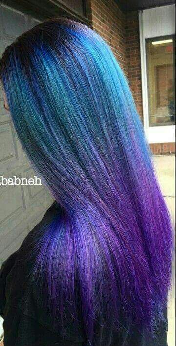 Purple Mixed With Blue And A Hint Of Green Hair Color Pastel Dyed Hair Mermaid Hair