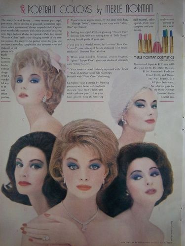 efec3462fec 1961 Vintage Merle Norman Cosmetics Portrait Colors Beauty Ad | eBay