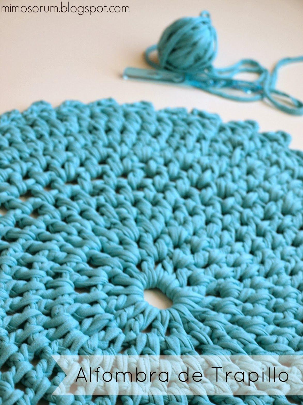 Cómo hacer una alfombra de trapillo fácilmente. Diy: handmade carpet- Easy project- T-shirt.